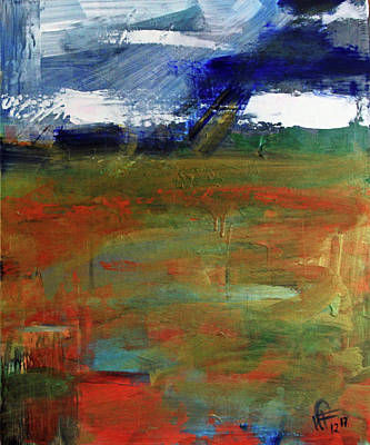 Painting - Storm Prelude Right Panel by Walter Fahmy