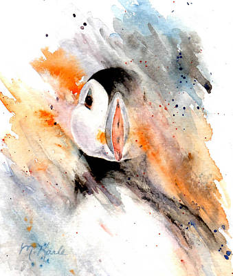 Painting - Storm Puffin by Marsha Karle