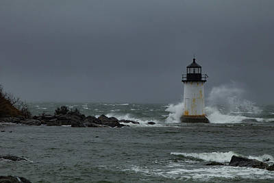 Photograph - Storm Riley Pickering Lighthouse by Jeff Folger