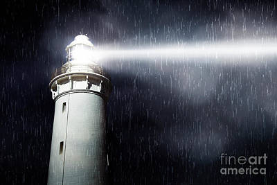 Beacon Wall Art - Photograph - Storm Searchlight by Jorgo Photography - Wall Art Gallery