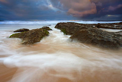 Beach Photograph - Storm Shadow by Mike  Dawson