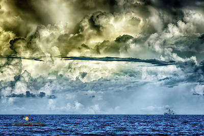 Photograph - Storm Shrimping by Joedes Photography