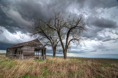 Photograph - Storm Sky Barn by Dave Rennie