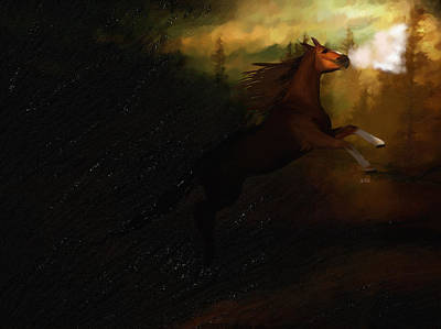 Storm Spooked Art Print by Angela A Stanton