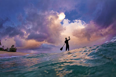 Paddler Wall Art - Photograph - Storm Stander by Sean Davey