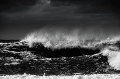 Photograph - Storm Surf 2 by Larry Goss