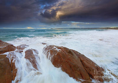 Knights Beach Photograph - Storm Tides by Mike Dawson