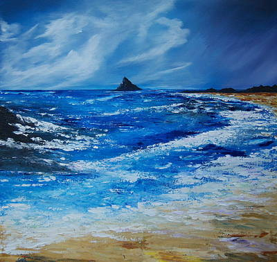 Storm To The East Of The Skellig Art Print