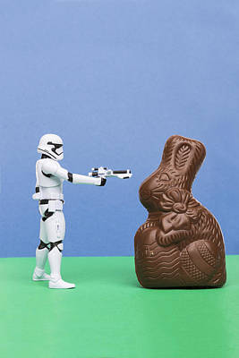 Candy Candy Doll Photograph - Storm Trooper 3 Easter Bunny by John Brueske