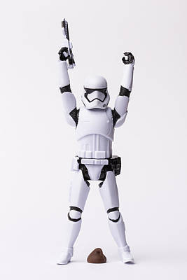 Candy Candy Doll Photograph - Storm Trooper 4 Pooped by John Brueske