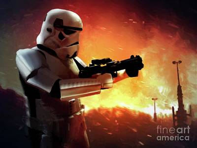 Stellar Interstellar - Storm Trooper Battle by Pixel Chimp