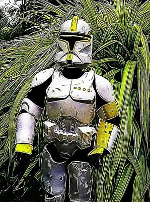 Galatic Photograph - Storm Trooper  by Judy Bernier