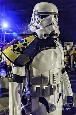 Kathleen Photograph - Storm Trooper Marches At Mardi Gras by Kathleen K Parker