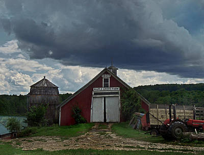 Photograph - Storm Upon Maple Grove Farm by Nancy Griswold