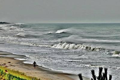 Photograph - Lone Surfer by Kim Bemis