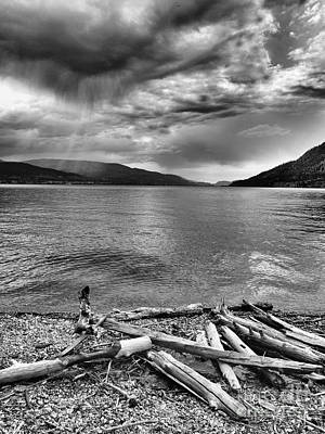 Okanagan Lake Photograph - Storm Warning by Tara Turner