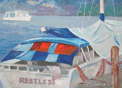 Art Print featuring the painting Storm Warning by Tony Caviston