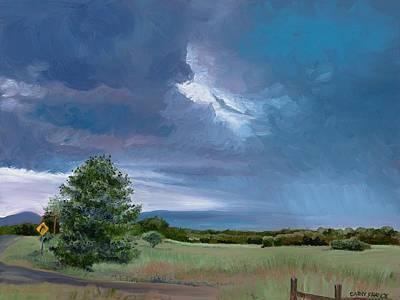 Storm Warning Yell County Arkansas Art Print by Cathy France
