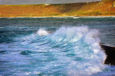 Sennen Cove Photograph - Storm Wave by Louise Heusinkveld