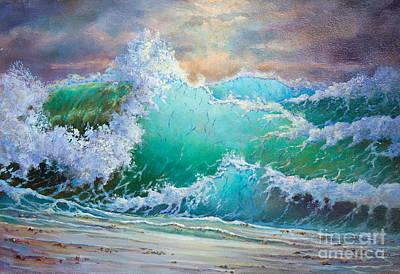 Storm Waves Art Print by Kristian Leov
