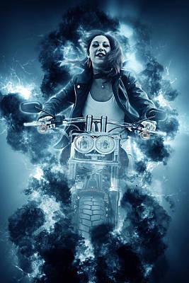Photograph - Stormbiker by Jason Shephard