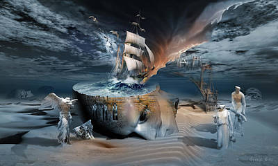 Surrealism Royalty Free Images - Stormbringer Royalty-Free Image by George Grie