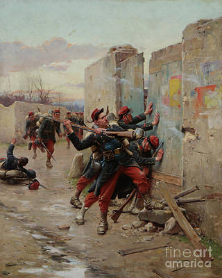 Franco-prussian War Painting - Storming A Fort During  by MotionAge Designs