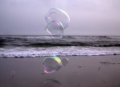 Beach Photograph - Storming Bubbles by Betsy Knapp