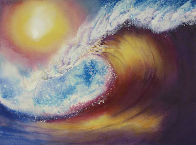 Surfing Art Painting - Stormridge Surf 2 by Nelson Ruger