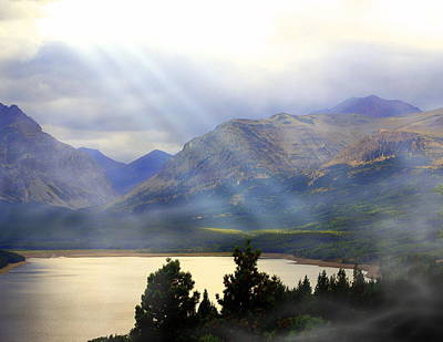 Storms A Coming-lower Two Medicine Lake Art Print by Marty Koch