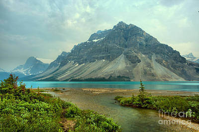 Photograph - Storms And Smoke Over Bow Lake by Adam Jewell