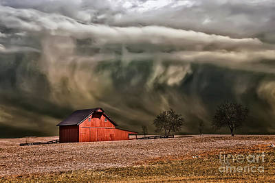 Red Barns Photograph - Storm's Coming by Lois Bryan