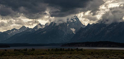 Photograph - Storms In The Tetons by Jennifer Ancker