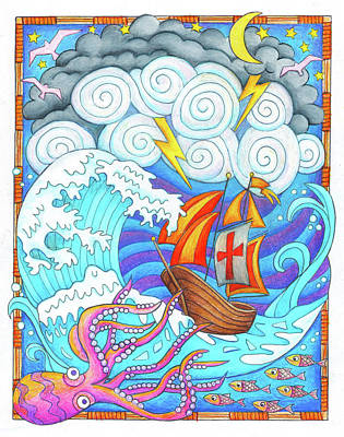 Drawing - Storms Of Life by Jennifer Allison