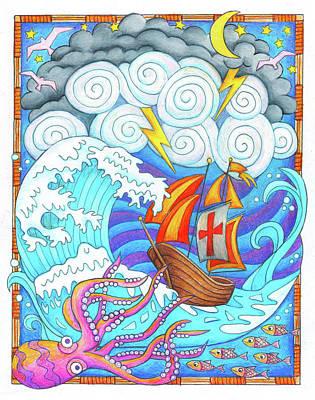 Storms Of Life Art Print by Jennifer Allison