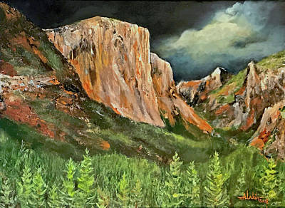 Painting - Storms Over El Capitan by Alan Lakin
