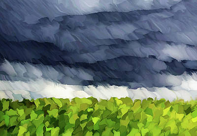 Mixed Media - Storms Over Nature Abstract Realism by Georgiana Romanovna