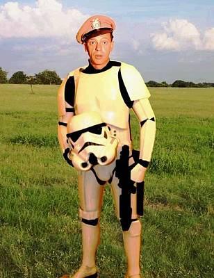 Barney Fife Drawing - Stormtrooper Barney Fife by Paul Van Scott