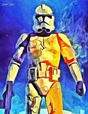 Star Painting - Stormtrooper Commander by Leonardo Digenio