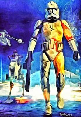 Revolt Digital Art - Stormtrooper - Da by Leonardo Digenio