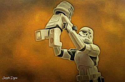 Ground Digital Art - Stormtrooper Family - Da by Leonardo Digenio