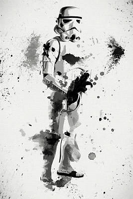 Galactic Painting - Stormtrooper Force by Dan Sproul
