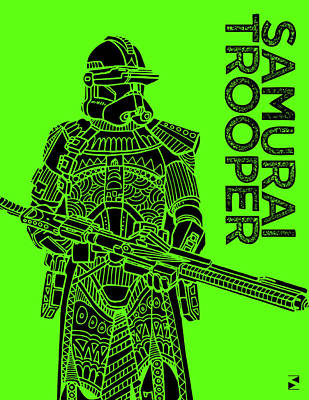 Royalty-Free and Rights-Managed Images - Stormtrooper - Green - Star Wars Art by Studio Grafiikka