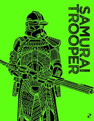Film Mixed Media - Stormtrooper - Green - Star Wars Art by Studio Grafiikka