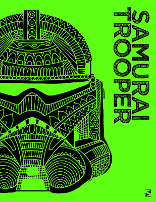 Royalty-Free and Rights-Managed Images - Stormtrooper Helmet - Green - Star Wars Art by Studio Grafiikka