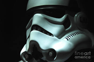 Stormtrooper Helmet Art Print by Micah May