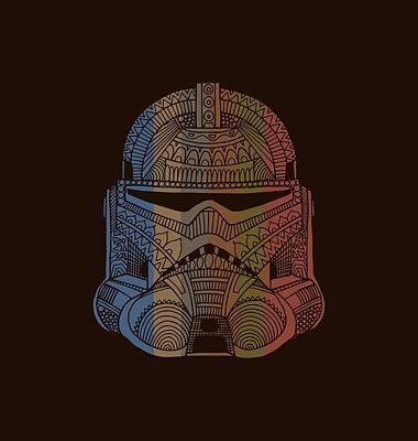 Mixed Media - Stormtrooper Helmet - Star Wars Art - Colorful by Studio Grafiikka