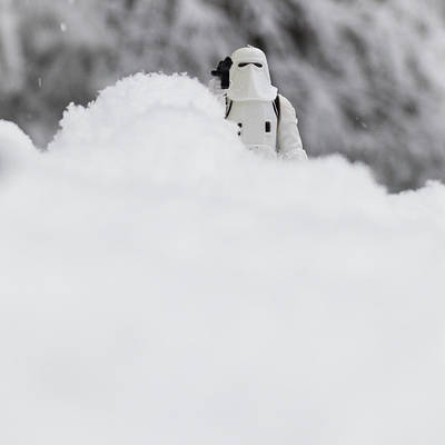 Stormtrooper Painting - Stormtrooper In The Snow by Jacquie Gouveia