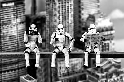 Miniature Nyc Photograph - Stormtrooper Lunchtime by Eugene Lagana