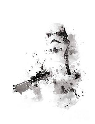 Popular Mixed Media - Stormtrooper by Monn Print